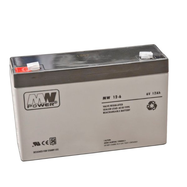 Battery MW power 6V 12Ah
