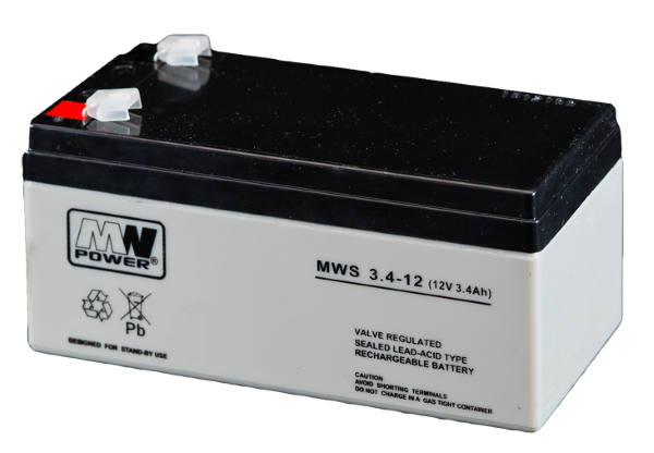 BATTERY MW POWER MW 12V 3.4AH