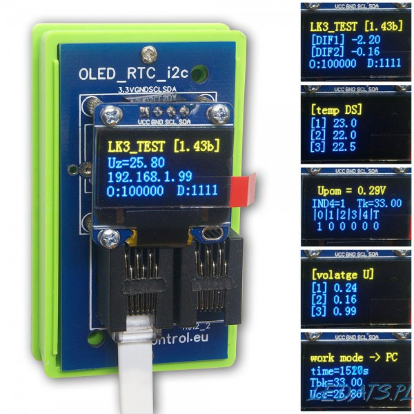 MODUŁ LK3 OLED/RTC/I2C Dual Yellow-Blue Expansion