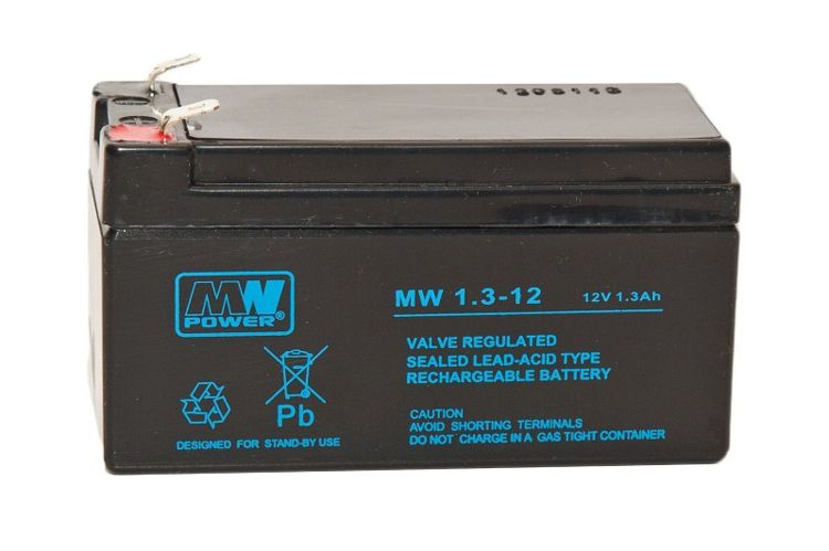Battery 6V 1.3AH  Carh Registers