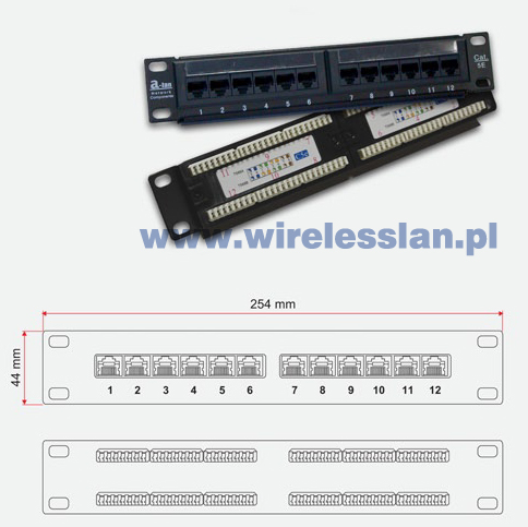 "Patch panel UTP 12 portów LSA 10"" ALANTEC"
