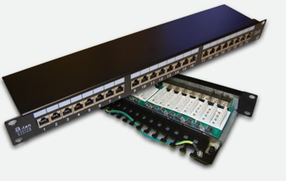 Patch panel STP ekranowany 24 porty LSA kat.6 ALANTEC