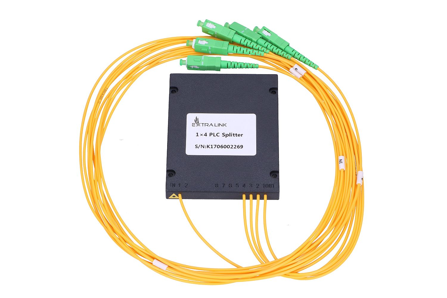 1:4 PLC SPLITTER ABS MODULE 2.0MM 1.5M SC/APC