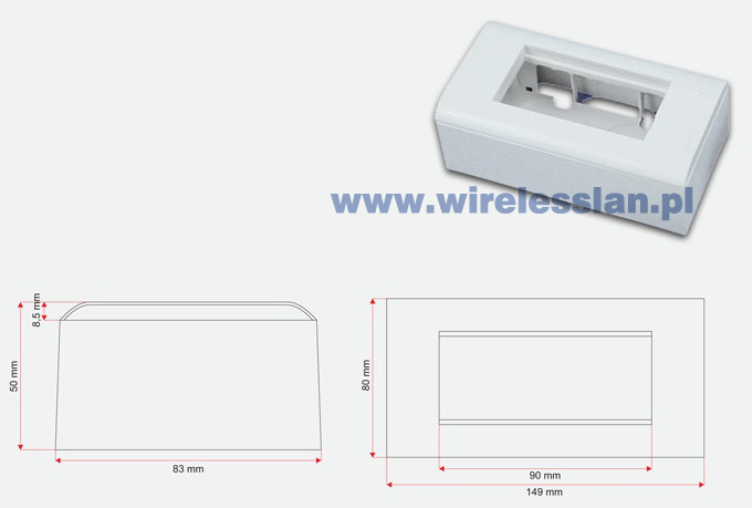 Box + support (metal) + frame 90x45 (set 2M)